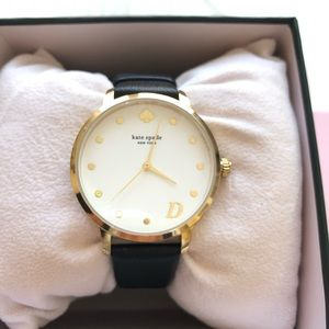 Kate spade  D monogram leather strap watch
